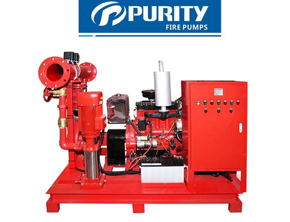 Fire Fighting Diesel Jockey Pump with Control Panel